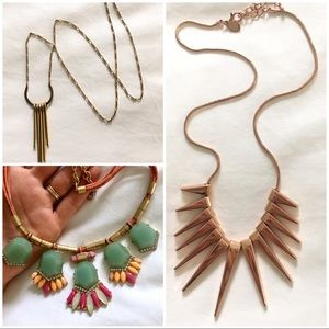 J. Crew + Express 3 Necklaces for $25